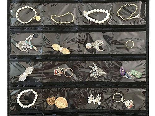 Brotrade Hanging Jewelry Organizer,Accessories Organizer,Oxford 80 Pocket Organizer For Holding Jewelries (Black) by brotrade (Image #2)