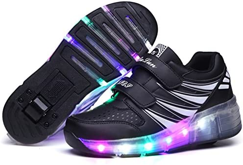 Ufatansy USB Charging Shoes Roller Shoes Girls Roller Skate Shoes Boys - 1