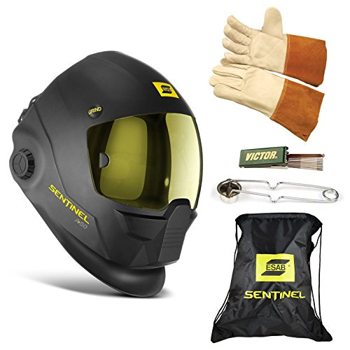 ESAB Sentinel A50 Automatic Welding Helmet, BAG, TIG GLOVE, STRIKER, TIP CLEANER 0700000800 by ESAB