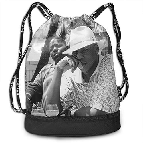 ISWJUSZFF Drawstring Bag- Stylish Jay-Z & Biggie- Brooklyn's Finest Print Lightweight Sackpack Sport Gym Bundle Backpack