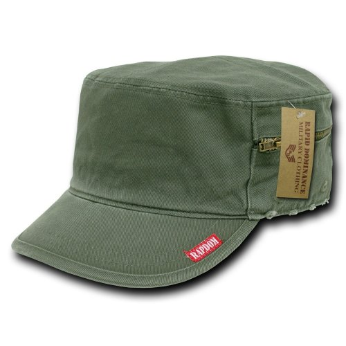 (Rapiddominance French Round Bill Cap, Olive, Small/11)