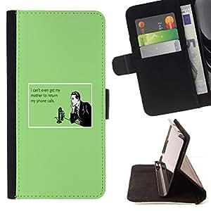 Momo Phone Case / Flip Funda de Cuero Case Cover - Madre Tecnología Relaciones Cita - Sony Xperia Z3 D6603