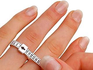 Calibre de taille de bague, 2 pièces de testeur de mesure de doigt multi-tailles uk size Uk Size