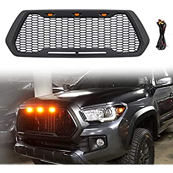 TIKSCIENCE 4pcs Grill Lights White LED Fits for Toyota Tacoma TRD PRO Grille 2016 2017 2018,with The Wiring Harness