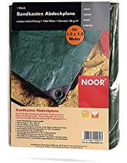 NOOR Zandbak dekzeil 1,50 x 1,50 m I herbruikbare waterdichte afdekking voor zandboxen, beschermt tegen vuil, bladeren en regen I uitgerust met oogjes voor een goede grip