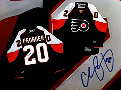 Image Unavailable. Image not available for. Color  Chris Pronger Signed  Jersey ... 6e5401dff