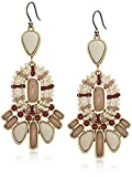 Lucky Brand Womens Seed Bead Statement Earrings, Gold, One Size