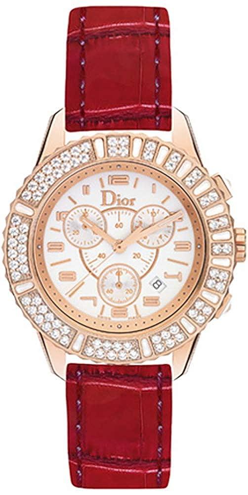 Amazon Com Women S Christian Dior Christal 18k Rose Gold Watch On