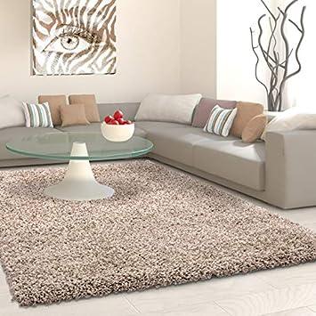 Carpet 1001 Structure A Fibres Longues Tapis Shaggy Uni De Couleur