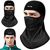 #8: KINGBIKE Balaclava Ski Face Mask Windproof Men Women Warm Hood Winter Masks Thermal Fleece Fabric with Breathable Vents for Cold Cycling Skiing Motorcycle Snowboard Tactical Hunting(Black) (Style 2)