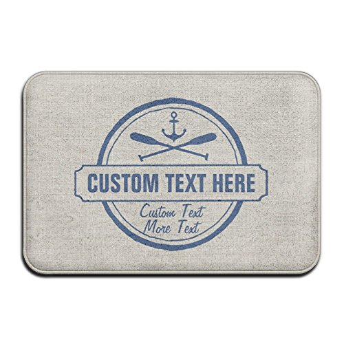 Custom Lake, Beach House & Boat Nautical Anchor Super Absorbent Anti-Slip Mat Indoor/Outdoor Decor Rug Doormat 23.6(L)X15.7(W) Inch Home Decor
