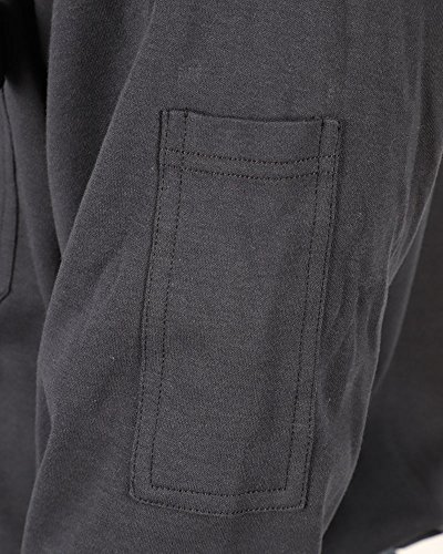 Cotton Flame Resistant Knit Safety Henley Work T-Shirt by Frecotex (Image #5)