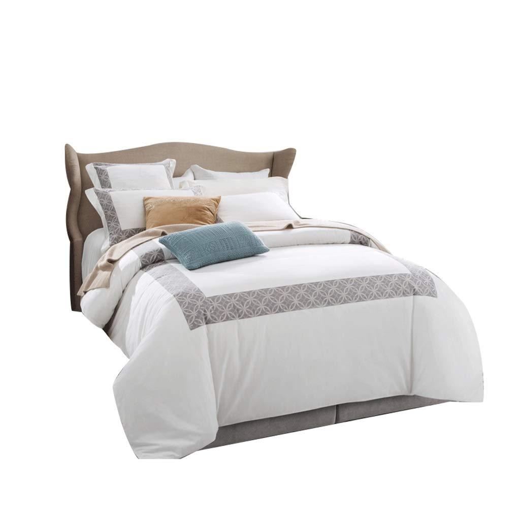 CARESEEN 寝具4ピースセット60 s綿糸染めジャガードストラップ位置決め2枕カバー1枚のシート1キルトカバー3サイズオプションの家の寝室の誕生日プレゼント (サイズ さいず : 1.8m) B07PCHZVWW  1.8m