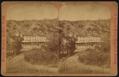 Photo: Photo of Stereograph, Manitou Springs, Manitou House, Colorado, CO, Hotel, c1875 . Size: 8x10