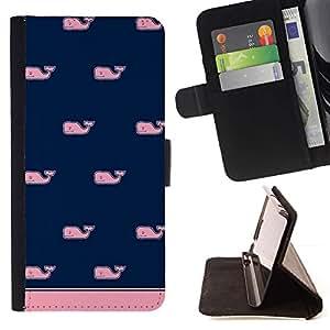 Momo Phone Case / Flip Funda de Cuero Case Cover - Modelo azul rosa minimalista Limpio - HTC Desire 626