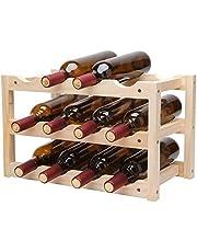 Wine Rack Desktop Freestanding Wine Rack Durable Tabletop Wine Rack 12 Bottle Wine Holder Storage Stand with Stylish Design Perfect for Home Decor Bar Wine Cellar Basement Cabinet Pantry