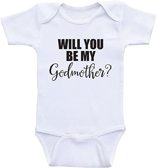 Will You Be My Godfather Christening Boys Girls Baby Babygrow  0-18 Months