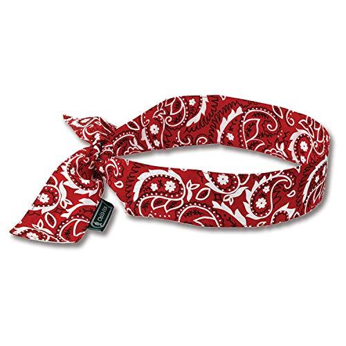ERGODYNE Chill-Its Evaporative Cooling Bandanas - Red ()