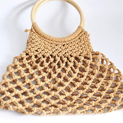 coton sac iBaste occasionnel sac sac la creux sac 2018 plage Kaki main bandoulière tissé été femme mode à à x6pSZ