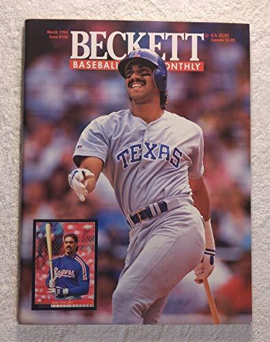 - Juan Gonzalez - Texas Rangers - Beckett Baseball Card Monthly - #108 - March 1994 - Back Cover: Kenny Lofton (Cleveland Indians)