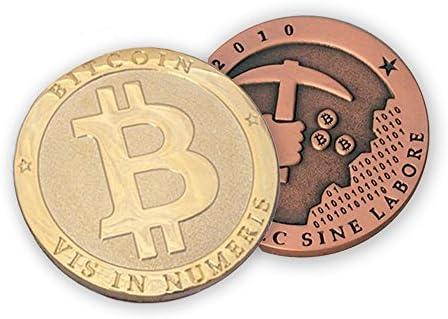 Warp United 10-Pack Golden Bitcoin 2018 Commemorative Collectors Coin Souvenir Gift