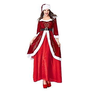 Fiaya - Disfraz de Papá Noel de Navidad para Mujer, diseño Retro ...