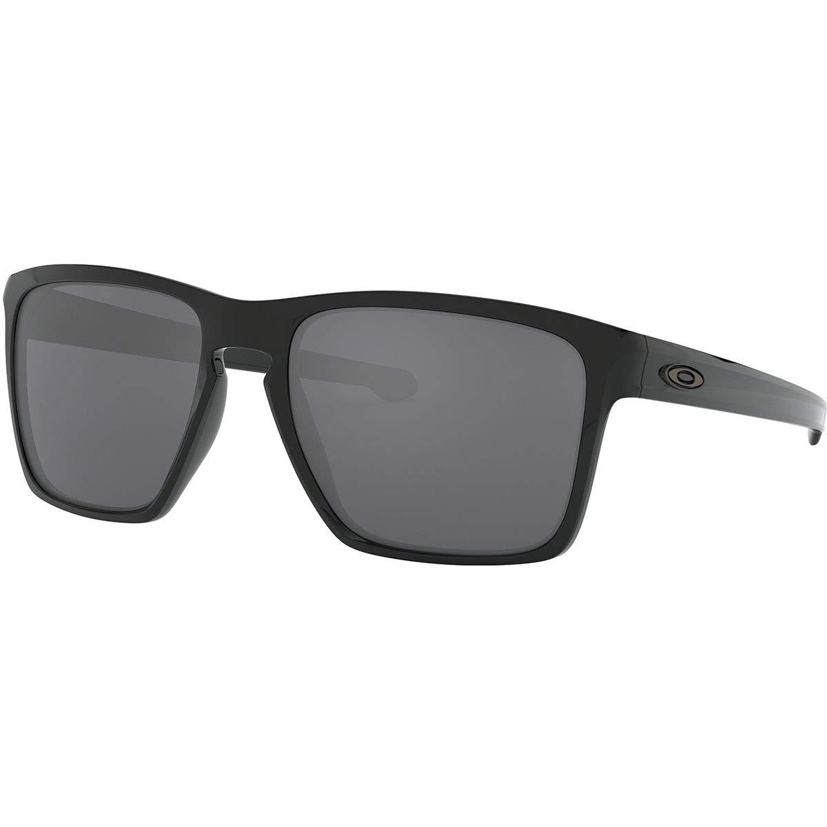 Oakley Men's OO9341 Sliver XL Rectangular Sunglasses, Polished Black/Black Iridium, 57 mm by Oakley