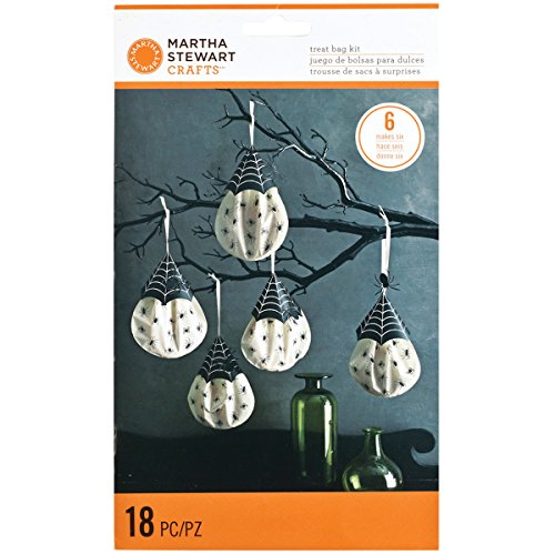 Martha Stewart Gothic Lace Treat Bags, Hanging Spiders, 6-Pack