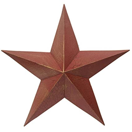 21quot Distressed Rustic Red Metal Barn Star Home Wall Decor