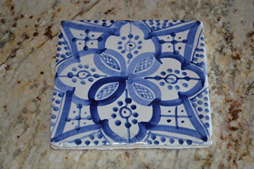 Painted Art Glass Holiday (Moroccan Kitchen Tiles Ceramic Mexican Spanish Mediterranean Zellige Mosaic Art)