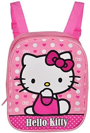 """10/"""" Hello Kitty Floral Heart Pink Mini Backpack #84022"""