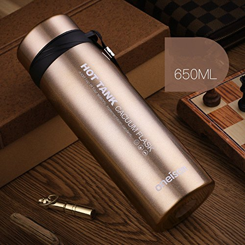 Champagne 650Ml Stainless Steel Flask Water Bottle Coffee Cup Travel Mug - 650 Champagne