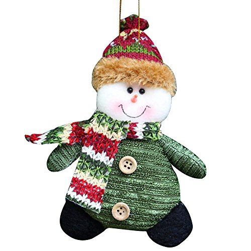 Cideros Christmas Decoration Xmas Snowman Bells Dolls Tree Ornaments Hanging Pendant Gifts Ornaments for Home,Style 5 - Size 158cm