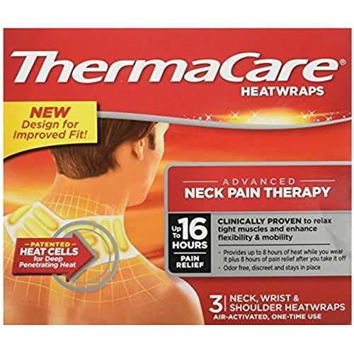 - ThermaCare Heatwraps Neck, Shoulder & Wrist 3 Each ( Pack of 9)