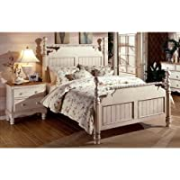 Hillsdale Furniture 1172BQR Wilshire Post Bed, Antique White