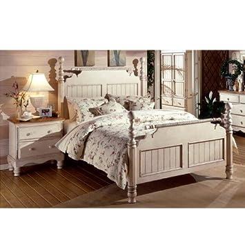 Amazon.com: Hillsdale Furniture 1172BQR Wilshire Post Bed, Antique ...