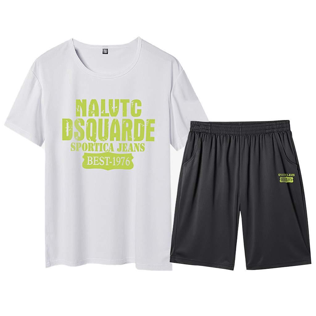Subfamily Pantalon Chandal Hombre Ropa Cortos Casuales de Manga Corta de Verano para Hombre Sports Set