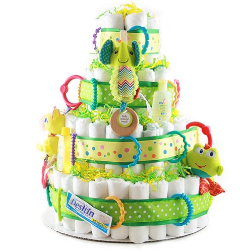 Bundle of Joy - Diaper Cake by Design It Yourself Gifts & Baskets