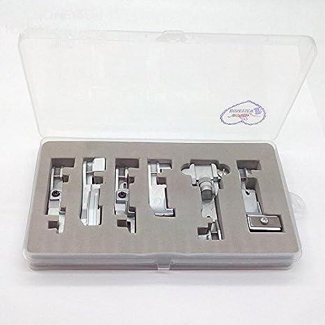 Juego de 6 pies prensatelas Honeysew para máquinas de coser Singer 14CG754, 14SH654, 14SH754, 14HD854, 14U555 y 14U557 Consew 1: Amazon.es: Hogar