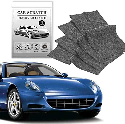 CASEIER Nano Magic Cloth (4pcs), Nanomagic Cloth Scratch Remover, Car Scratch Repair Nano Cloth, Nano Sparkle Cloth for Car Paint Scratch Remover, Easy to Repair Light and Small Scratched on Surface