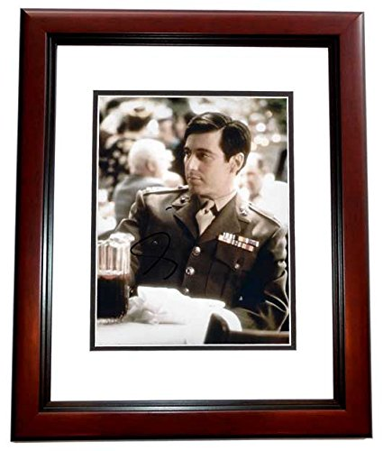 Al Pacino Autographed - Hand Signed Vintage 8x10 Photo MAHOGANY CUSTOM Frame - Guaranteed to pass PSA or JSA - Godfather - Scarface from Real Deal Memorabilia