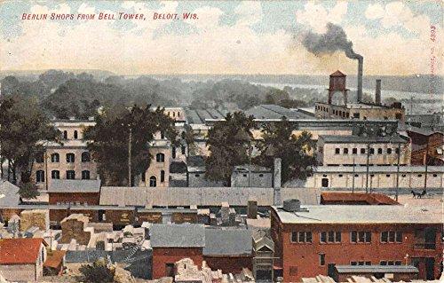Beloit Wisconsin Berlin Shops From Bell Tower Antique Postcard - Bell Tower The Shops