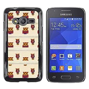 TopCaseStore / la caja del caucho duro de la cubierta de protección de la piel - Teacher School Brown Teach Cute - Samsung Galaxy Ace 4 G313 SM-G313F