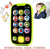 KidPal Baby Toy Phone for 1 2 Year Old with Light, Music| My First Smartphone Toy for Baby 8M 12M 16M 24M+ Toddler Cell...