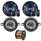 Two Sets Of Car Audio Speakers - Autotek ATS65C ATS 6.5 Inch 300w Car Stereo Speaker + Crunch CS35CX 150w 3.5
