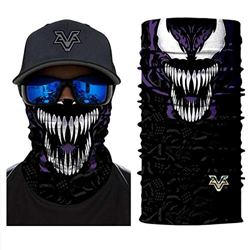 3D Headband Headwears Bandana Headscarf Spider Venom Face Masks Scarfs Scarf Mask Tube Neck Full Lower Half Face Cosplay Costume Movie No.226