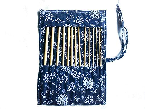 [해외]14 개 대나무 아프간 34cm14 인치 크로 셰 후크 케이스-우드 크 라프 트 세트 TARGARIAN / 14 pcs of bamboo afghan 34cm14 crochet hooks with case - wood craft set by TARGARIAN