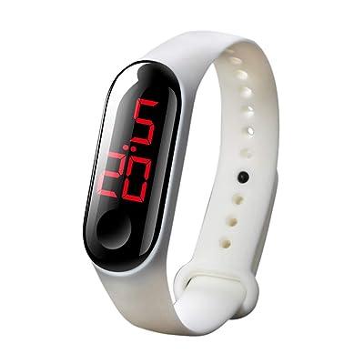 PIKAJIU Digital LED Watches, Sport Digital Touch Screen Waterproof Watch (O): Toys & Games
