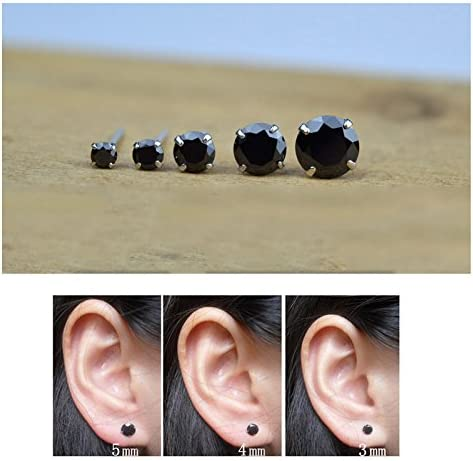 Details about  /Black CZ Earring 925 Sterling Silver Dragon Claw Mens Biker Stud Earring 8R007A