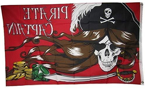 Hebel 3x5 Jolly Roger Pirate Captain Woman Flag 3x5 Banner Brass Grommets | Model FLG - 697 ()
